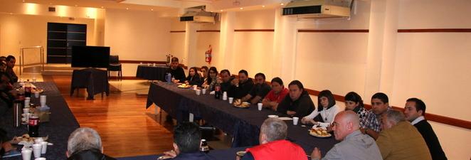 Nuestro Secretario General y una reunión con nuestro gran cuerpo de delegados