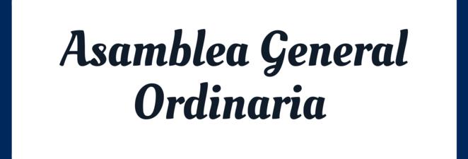 ASAMBLEA GENERAL ORDINARIA – 22/01/2020